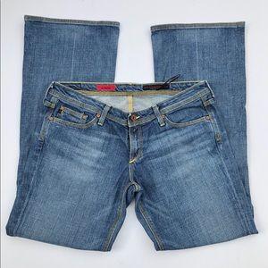 AG The Merlot Wide Leg Jeans 32S